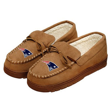 New England Patriots Official NFL Mens Moccasin Slippers