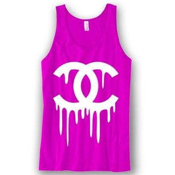 Chanel Dripping Unisex Tank Top Funny and Music