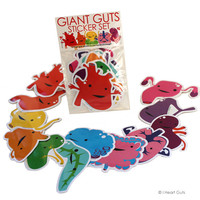 Giant Guts Sticker Set - Collect 'Em All! - 12 stickers