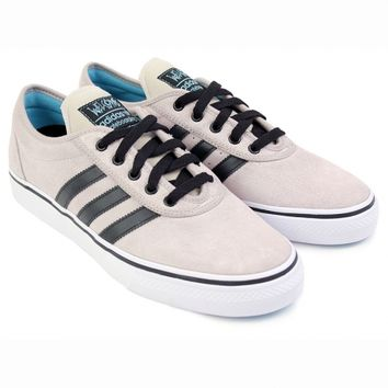 Adi Ease ADV Shoes in White / Core Black / Light Aqua by Adidas Skateboarding