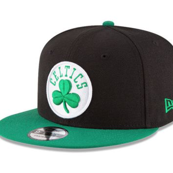 Boston Celtics New Era 9FIFTY NBA Black Adjustable Snap Snapback Hat Cap