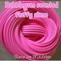 Bubble Gum Scented Fluffy Slime ~ fluffy slime ~ scented slime