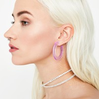 Out Of Sight Hoop Earrings
