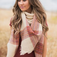 Bundled Up Blanket Scarf (Beige)