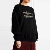 Balenciaga Printed cotton-jersey sweatshirt