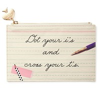 Pencil Pouch in Dot Your I's and Cross your T's by Kate Spade New York - FINAL SALE