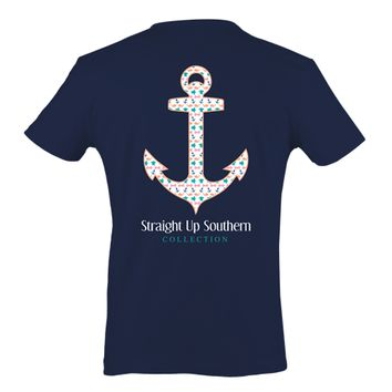 Itsa girl Thing Straight Up Southern Collection Anchor Girlie Bright T Shirt