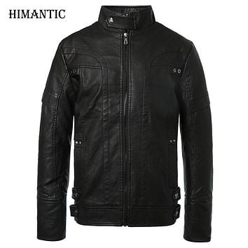 Motorcycle Leather Jackets Men Autumn Winter Leather Clothing Men
