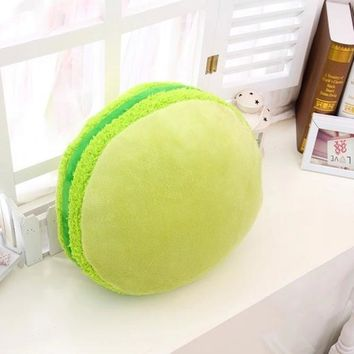 Throw  Macarons Pillow Cushion Plush Naps Hand Warmer Toy