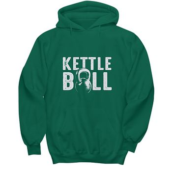 Kettle Bell Iron Cast Life Workout Fitness Drinking Hoodie