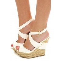 High Rise Wedge-White