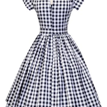 Kelly Dress in Black and White Gingham