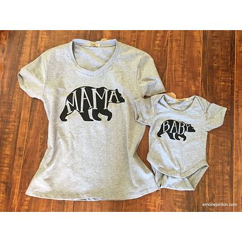Mama Bear T-Shirt Set