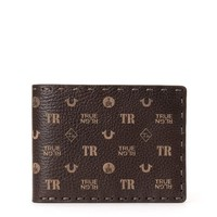 True Religion Monogram Mens Wallet - Brown