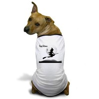 HAPPY HALLOWEEN WITCH DOG T-SHIRT