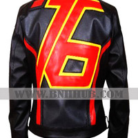 Black Soldier 76 Leather Jacket | Mens Game Soldier 76 Leather Jacket Black