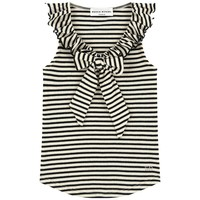 Sonia Rykiel Girls Striped Fancy Tank Top