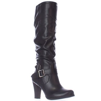 SC35 Rudyy Heeled Knee High Boots, Black, 5 US