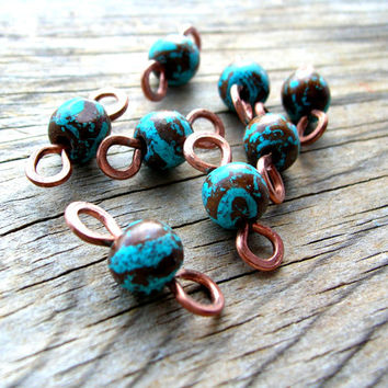Bohemian Bead Connectors - Primitive Jewelry Connector - Bohemian Connectors - Jewelry Findings - Handmade Supplies