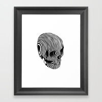 Skull Lines Tattoo Framed Art Print by lostanaw