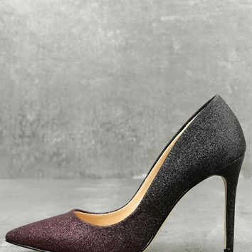 Kyle Wine Glitter Pumps