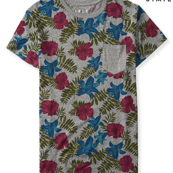 Free State Heathered Floral Pocket Tee