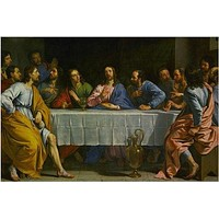 JESUS CHRIST the last supper PAINTING poster RELIGIOUS COLLECTORS 24X36 hot