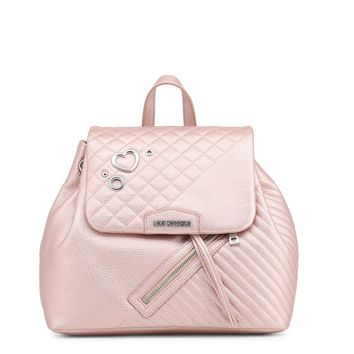 Love Moschino Pink Padded Leather Backpack