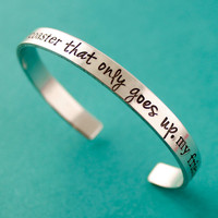 Rollercoaster That Only Goes Up Cuff - The Fault In Our Stars Bracelet