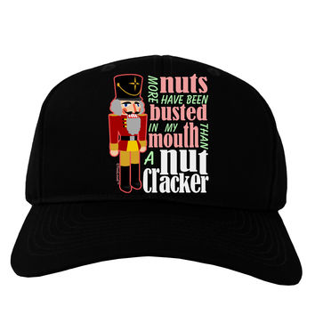 More Nuts Busted - My Mouth Adult Dark Baseball Cap Hat by
