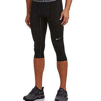 nike 3 4 tights. nike pro combat core compression 3/4 tights - black/cool grey 3 4 l