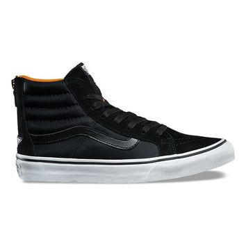 VANS BOOM BOOM SK8-HI SLIM ZIP - BLACK/TRUE WHITE