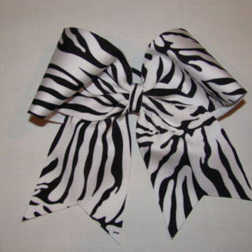 Zebra Cheer Bow