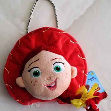 Licensed cool Disney Store TOY STORY COWGIRL JESSIE HAT BRAID Plush Doll Coin Purse Hand Bag