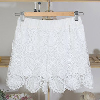 White Lace Summer Shorts