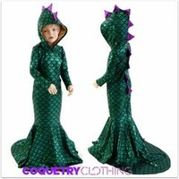 Girls Puddle Train Dragon Gown