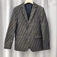 FENDI Classic Autumn Winter Fashion Women Men Retro Double F Jacquard Cardigan Jacket Coat