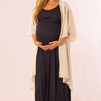 Easy to Style Maternity Maxi in Black