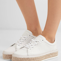 rag & bone - Kent leather espadrille platform sneakers