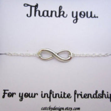 Best friend gift,BFF,Infinity bracelet with Friendship Quote,best friend Infinity Bracelet & Card Set,Bracelet for friend,valentines day