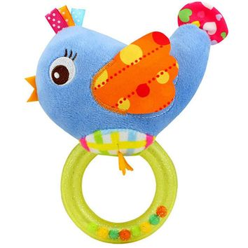 0-3 Years Baby Rattle Hand Bell Toy 5 Style Owl Bird Chicken Animals Plush Toy Gift Bed Rattles Mobiles Cartoon Toy P25