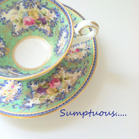 Vintage Royal Doulton Tea cup and Saucer Made in England Tea Party