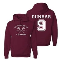 Dunbar 9 Teen Wolf Hoodie Beacon Hills Inspired Lacrosse Adult Fashion Hoodie Apparel