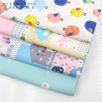 YJHSMY 176239, Cartoon cotton fabric,width 50 x160cm/pcs,DIY handmade crib bedding sets,pillows,tablecloths,baby bed linings