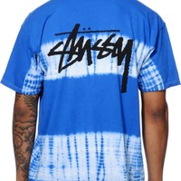 Stussy Stock Stripe Tie Dye T-Shirt