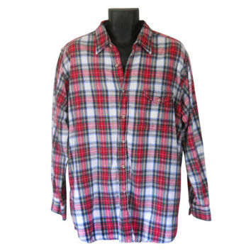 Woolrich Flannel Grunge Flannel Shirt Red Flannel Shirt Men Flannel Shirt Plaid Flannel Shirt Woolrich Shirt Woolrich Large Men Cotton Shirt