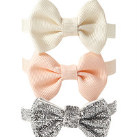 FOREVER 21 Girly Girl Hair Tie Set Peach/Cream One