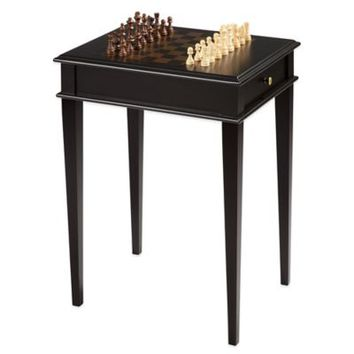 Bombay® Chess Game Table in Ebony