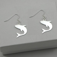 Shark Earrings - Sterling Silver