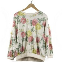 We Are Selecters · You Are Selecter | Flower Pattern Cream Sweater